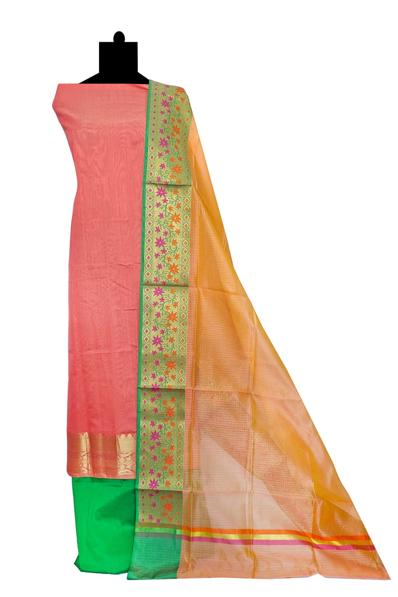 Peach Banarasi Silk Suit With Banarasi Embroidered Dupatta SKUPCHBNRS1220