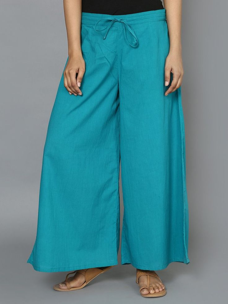 Sea Green Solid Coloured Palazzo