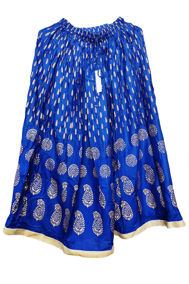 Blue Meenakari Work Cotton Skirt