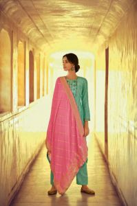 Pashmina Green Color Suit With Modal Silk Dupatta