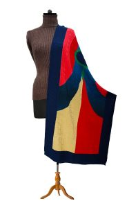 Pure Wool Multi Color Designer Stole