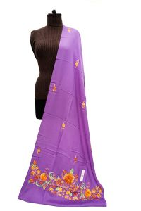 Pashmina Kashmiri Traditional Embroidered Royal Blue Stole
