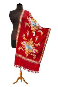 Pashmina Kashmiri Traditional Embroidered Maroon Stole