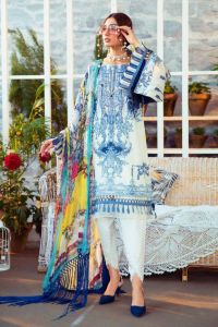 Karachi Lawn Cotton Pink Embroidered Suit
