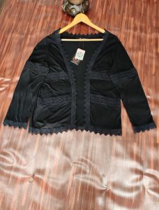 Cotton Black Shrug