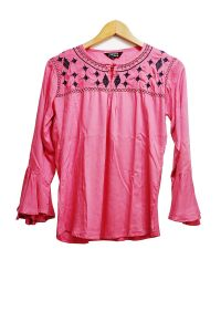 Pink Embridered Top