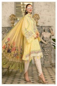 Lawn Cotton Lemon Pakistani Suit