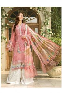 Lawn Cotton Pink Pakistani Suit