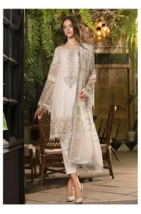 Lawn Cotton White Pakistani Suit