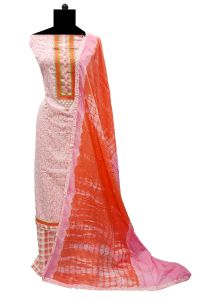 Cotton Pink Embroidered Suit with Cotton Dupatta