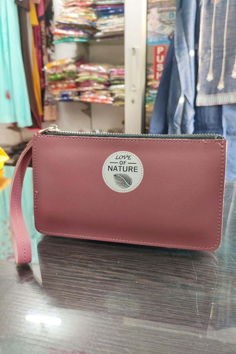 Handmade Pink Color Clutch