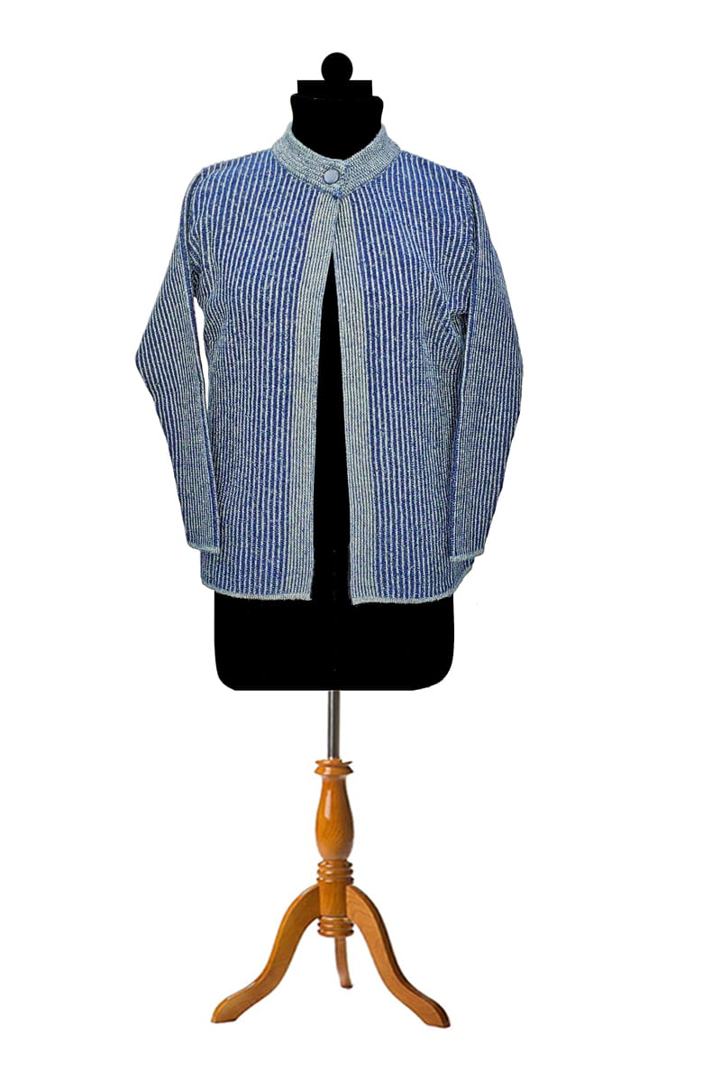Woolen Blue Grey Pary Wear Shrug