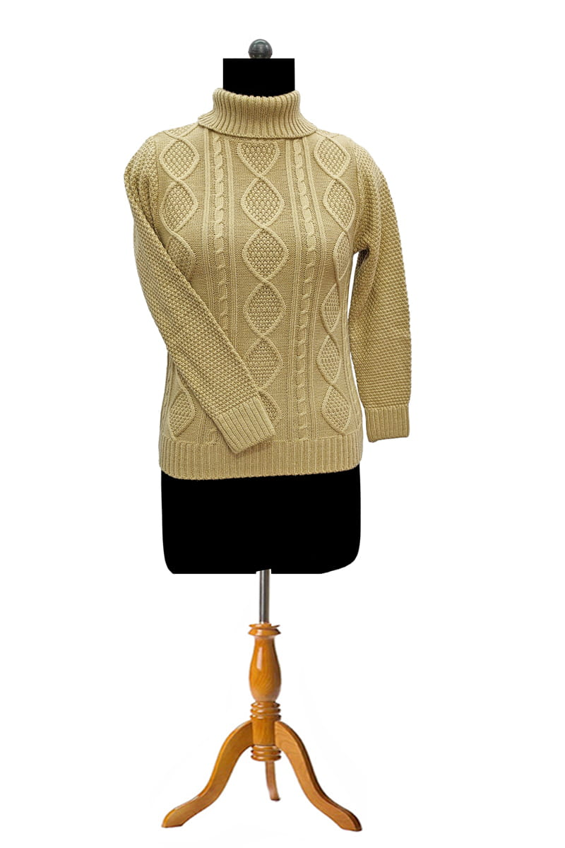 Woolen Knitted Beige Sweater