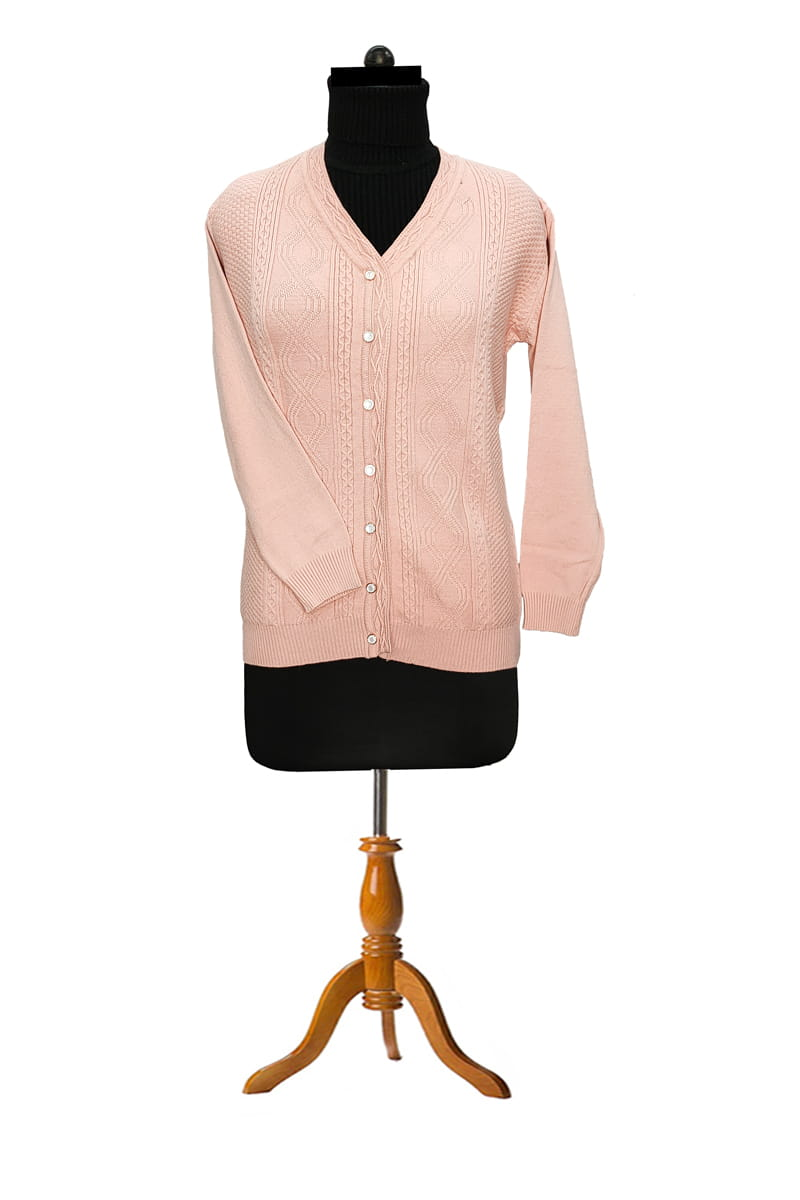 Pure Wool Pink Cardigan