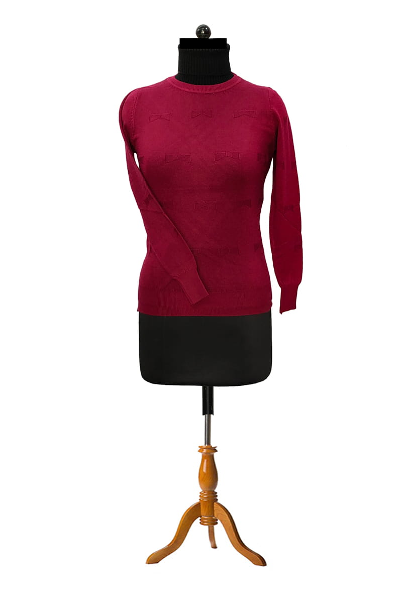Pure Wool Maroon Top