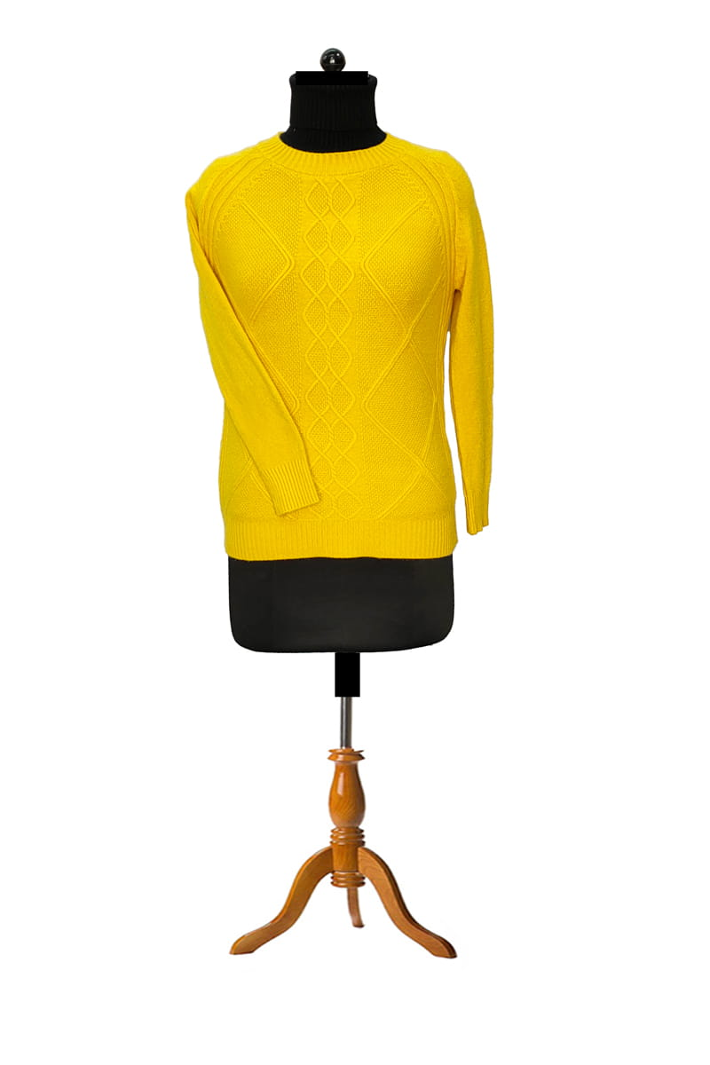 Pure Wool Yellow Sweater