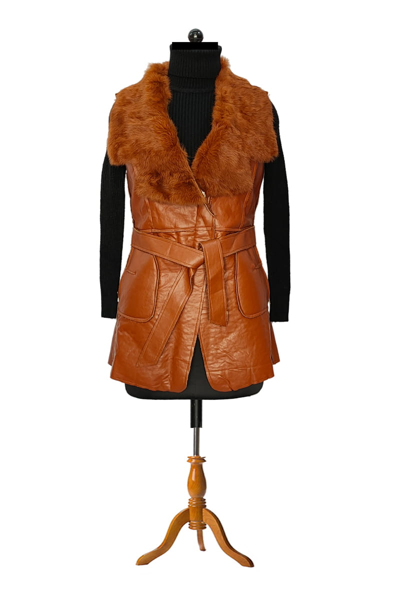Brown Warm Feather Jacket