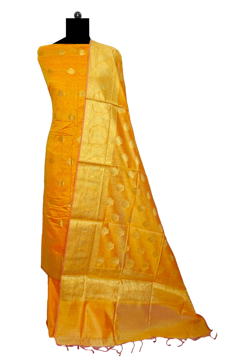 Silk Mustard Color Banarasi Work Suit