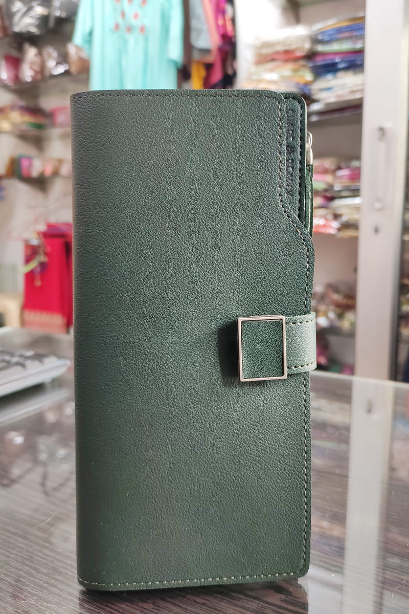 Handmade Olive Green Color Clutch