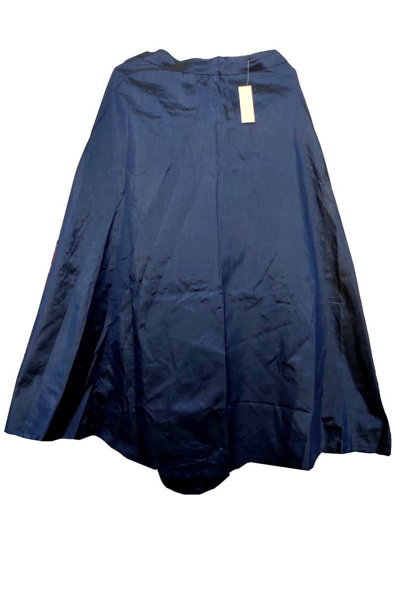 Navy Blue Silk Skirt