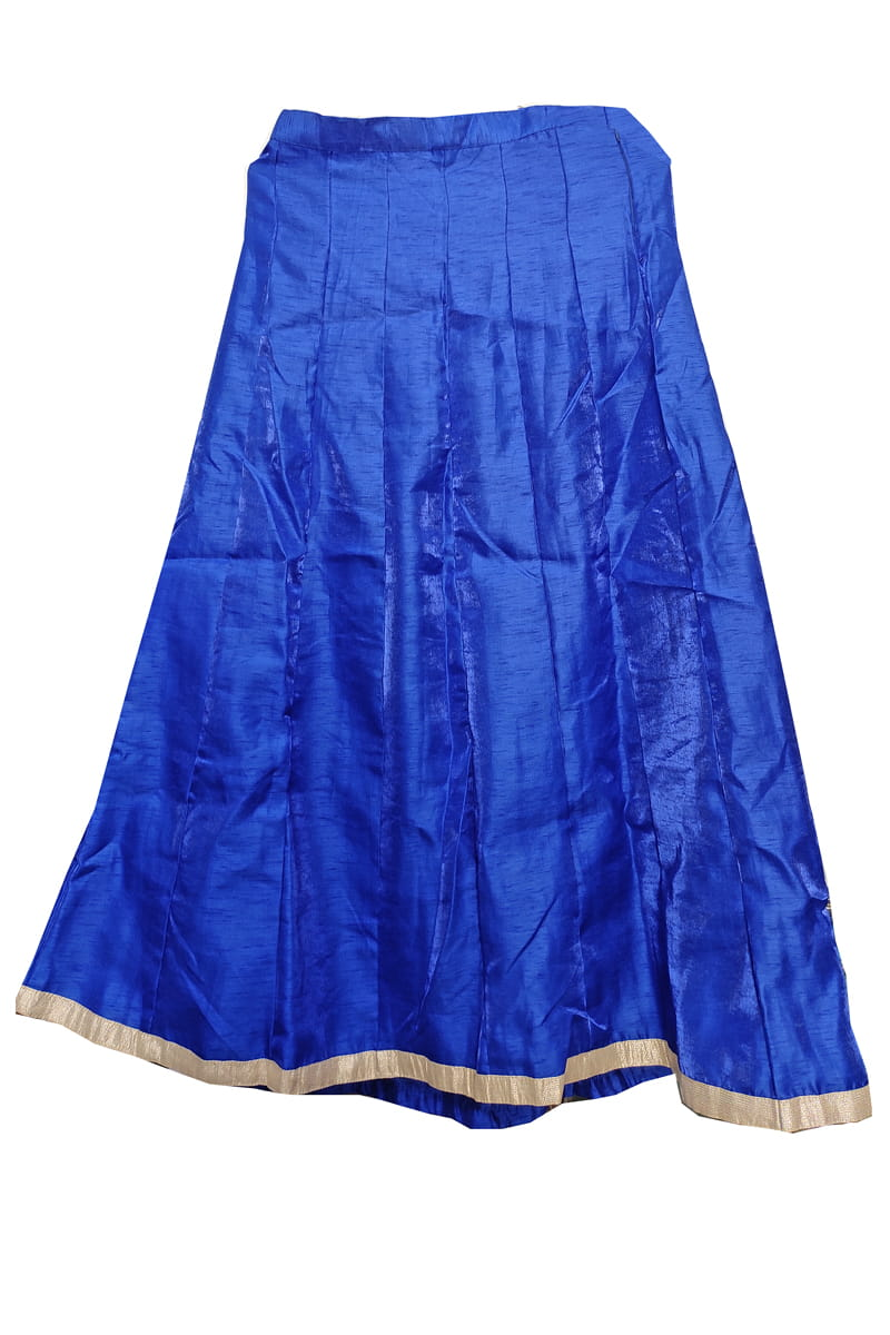 Royal Blue Silk Skirt