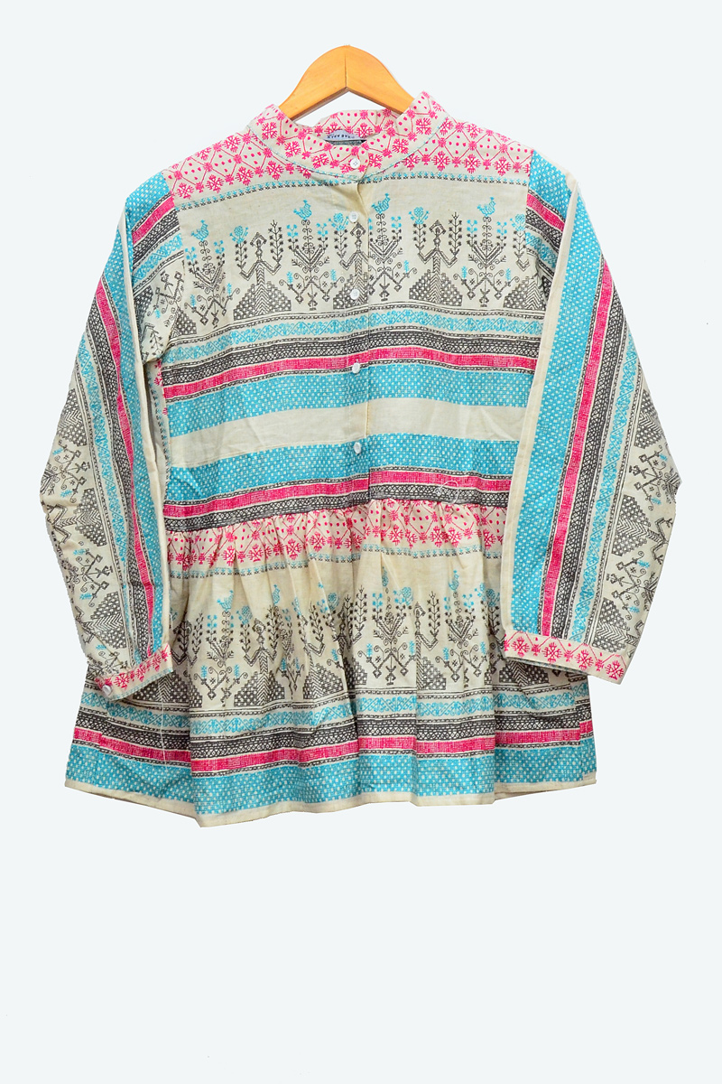 Cotton Khadi Printed Top